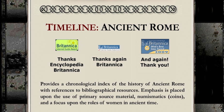TIMELINE: ANCIENT ROME Web Site Awards