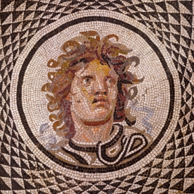 Mosaic Floor with Head of Medusa (detail) Getty Museum