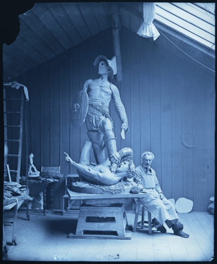 Jean-Léon Gérôme in his Studio with Large Model of