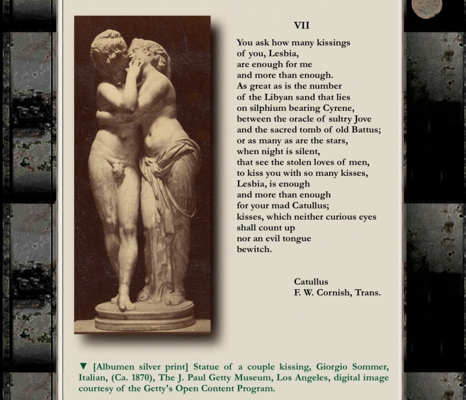 Poem VII, For Lesbia, by Catullus